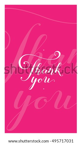 thank you card poster template creative stock vector royalty free
