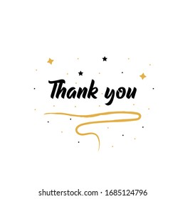 Thank You Card With Stars . Beautiful Greeting Card