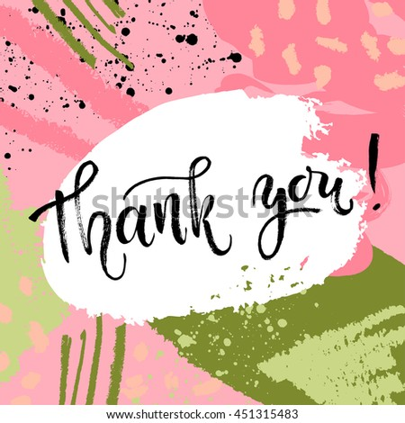 thank you card thanks vector isolated stock vector royalty free
