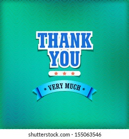 Thank you card with Typography