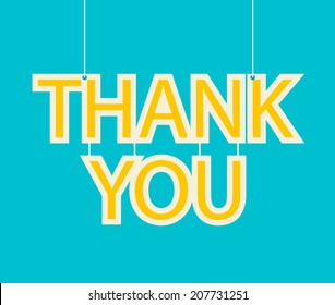 Thank you card, vector illustration