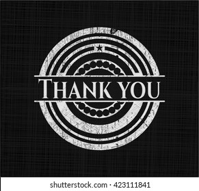 Thank you with chalkboard texture
