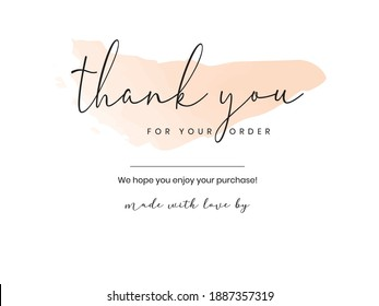 Thank you Compliment card with white background and text spice. illustration vector.