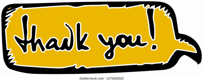 thank you concept for international thank you day. vector illustration inscription thank you.