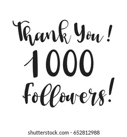 Thank you! design template for online social network and followers. Media achievement.