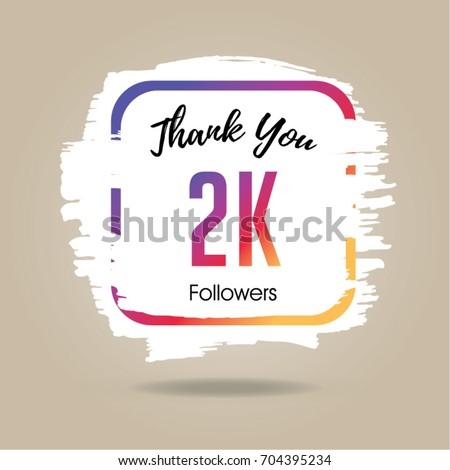 Thank You Design Template Social Network Stock Vector Royalty Free