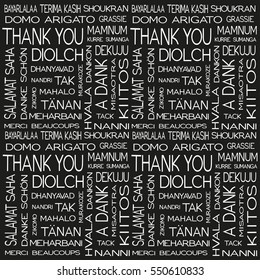 thank you in different languages vector pattern