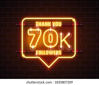 Thank you followers peoples, 70k online social group, happy banner celebrate, Vector illustration