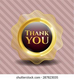 Thank you gold shiny badge
