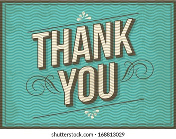 thank you greeting template vector/illustration