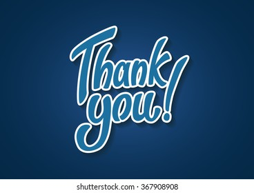 Thank You hand lettering text