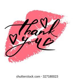 """""""Thank you"""" handwritten vector card"""