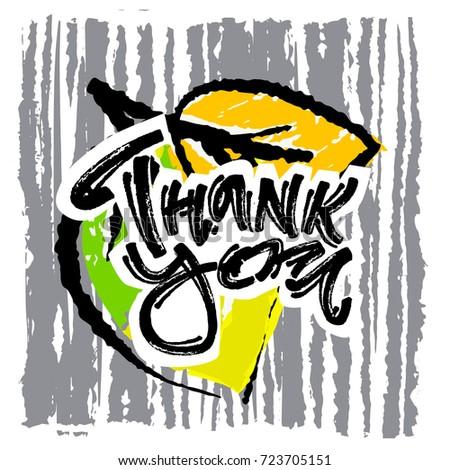 thank you handwritten vector chalk poster perfect stock vector