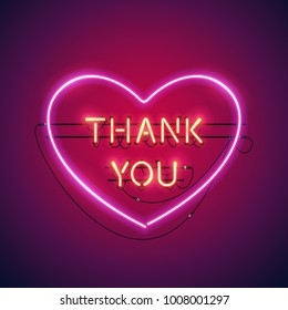 Thank you in the heart neon sign makes it quick and easy to customize your romance holiday projects. Each of object is named and placed in a symbol panel. Used neon vector brushes included.
