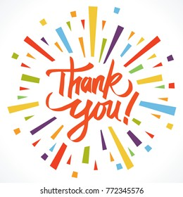 Thank you illustration vector