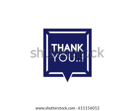 thank you label template stock vector royalty free 611156012