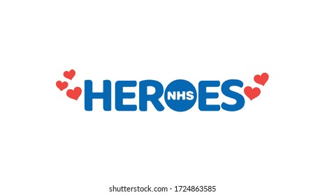 Thank you NHS rainbow love heart vector Coronavirus 2020 pandemic UK