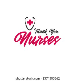 Thank you nurses day vector template
