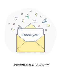 Thank You Page Element Open Letter Stock Vector Royalty Free