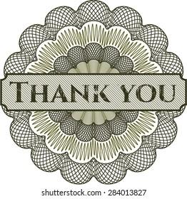 Thank you rosette