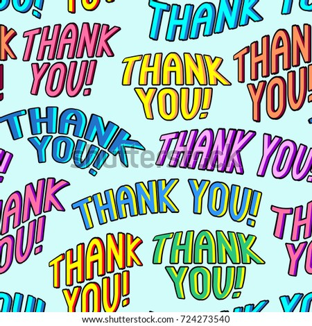 Thank You Seamless Pattern Cards Wrapping Stock Vector Royalty Free