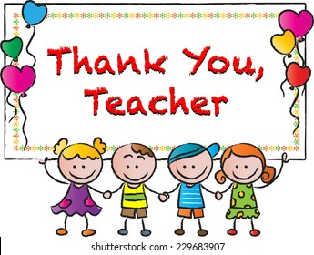 Thank you teacher stock images royalty free images vectors thank you teacher voltagebd Choice Image