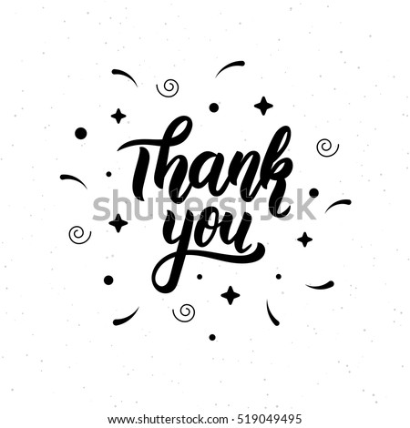 thank you trendy hand lettering quote のベクター画像素材