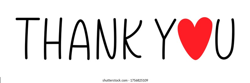 THANK YOU. Typography and calligraphy thank you. Give thanks. Hand drawn inscription lettering thank you card. Graphic design print greeting card Thanksgiving day. Vector text on a white background.