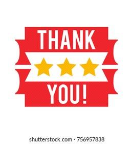 Thank you vector badge