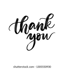 THANK YOU. VECTOR HAND LETTERING QUOTE PHRASE WITH MEANING