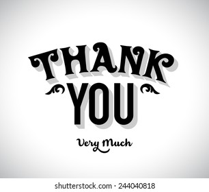 Thank You Very Much Type Design
