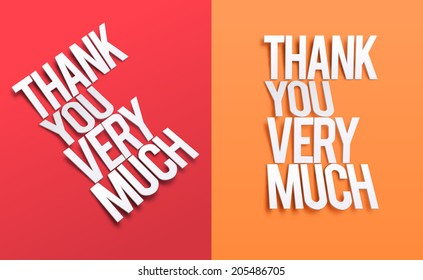 Thank You Very Much. Vector illustration for business artwork, websites, presentations.