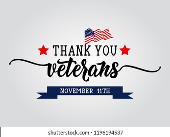 Thank you veterans. November 11th, United state of America, U.S.A veterans day design.