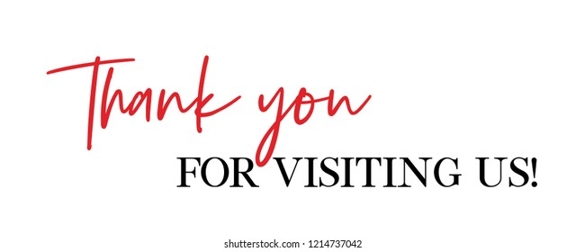 Thank you for visiting us vector quote
