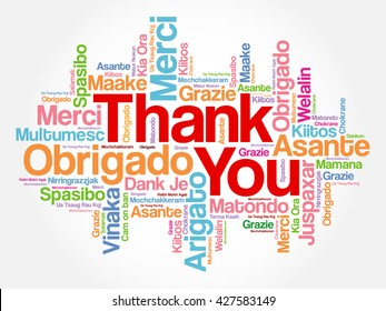 Thank You Word Cloud concept background in many languages