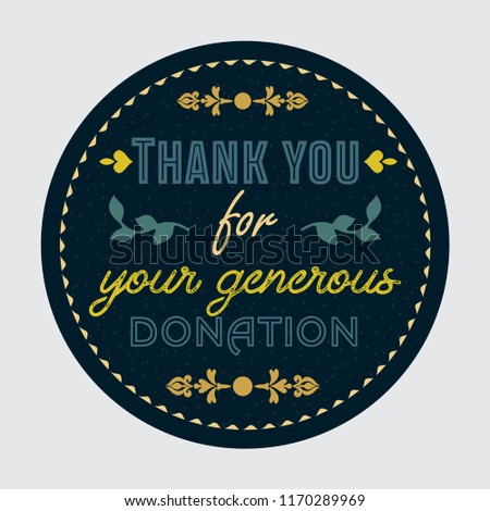 thank you for your generous donation