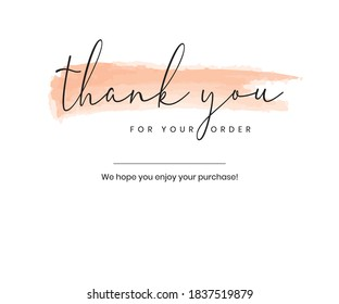 Thank you for your order card eps vector