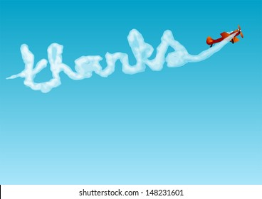 thanks. aerobatics with the inscription