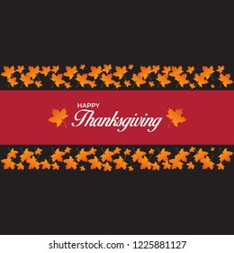 Thanks giving poster, wallpaper and flyer design with maple leaf.