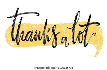 Thanks A Lot Stock Vector Illustration And Royalty Free Thanks A Lot Clipart