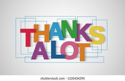 Thanks Lot Stock Illustrations – 325 Thanks Lot Stock Illustrations,  Vectors & Clipart - Dreamstime