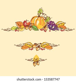 Thanksgiving autumn background vector illustration