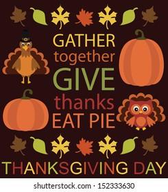 thanksgiving card design. vector illustration