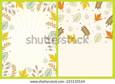 thanksgiving card template set stock vector royalty free 225110164