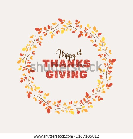 thanksgiving card template text happy thanksgiving stock vector