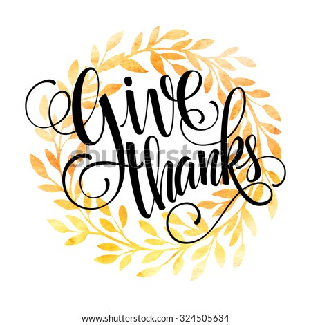 thanksgiving card template watercolor painted vector stock vector