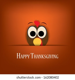 Thanksgiving card vector design with traditional turkey. Eps10 vector illustration suitable for cards, flyers, posters, invitations
