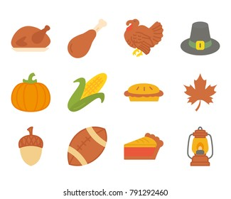Thanksgiving day flat icon