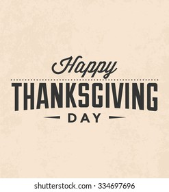 Thanksgiving Day Typographic Vector Design on Light Background