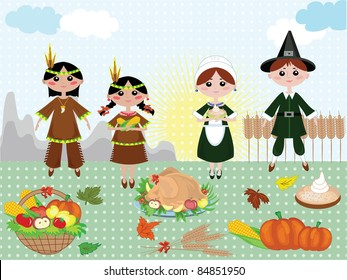 Thanksgiving day,vector background.